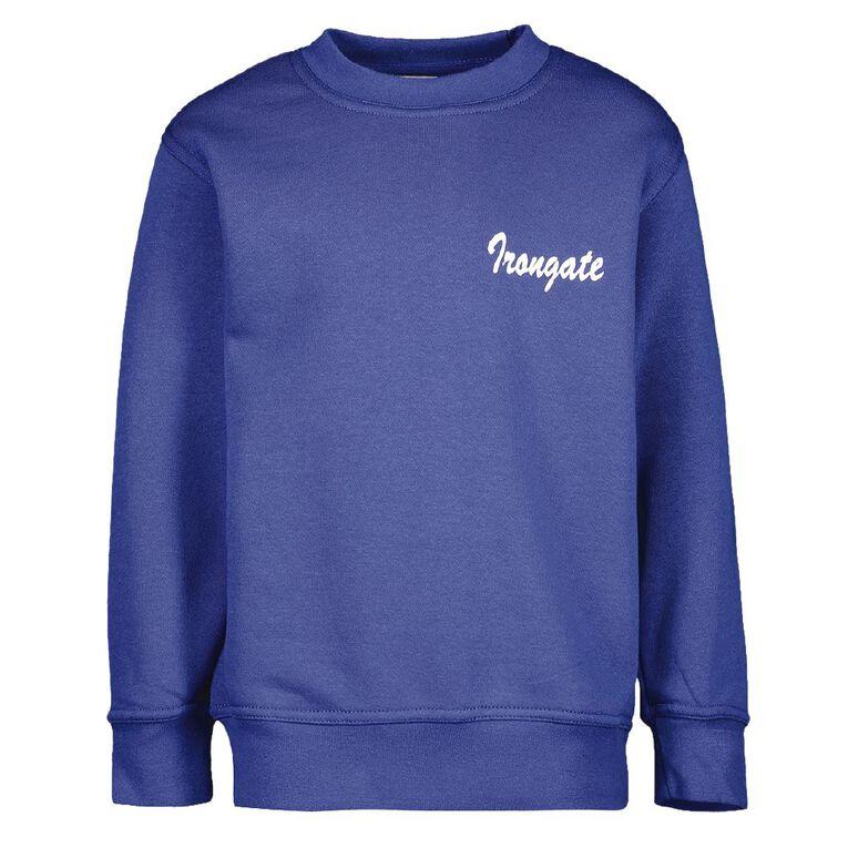 Schooltex Irongate Sweatshirt with Screenprint, Royal, hi-res