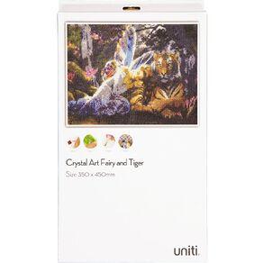 Uniti Crystal Art 35x45cm Fairy & Tiger
