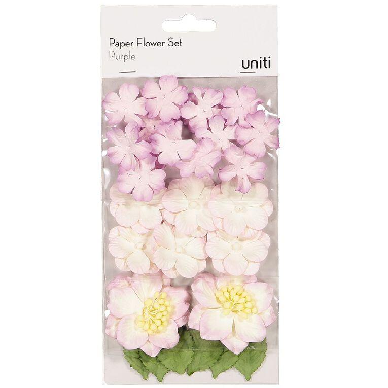 Uniti Paper Flower Set Purple, , hi-res