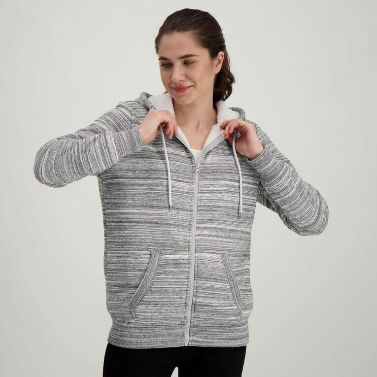 H&H Women's Sherpa Lined Zip Thru, Grey, hi-res