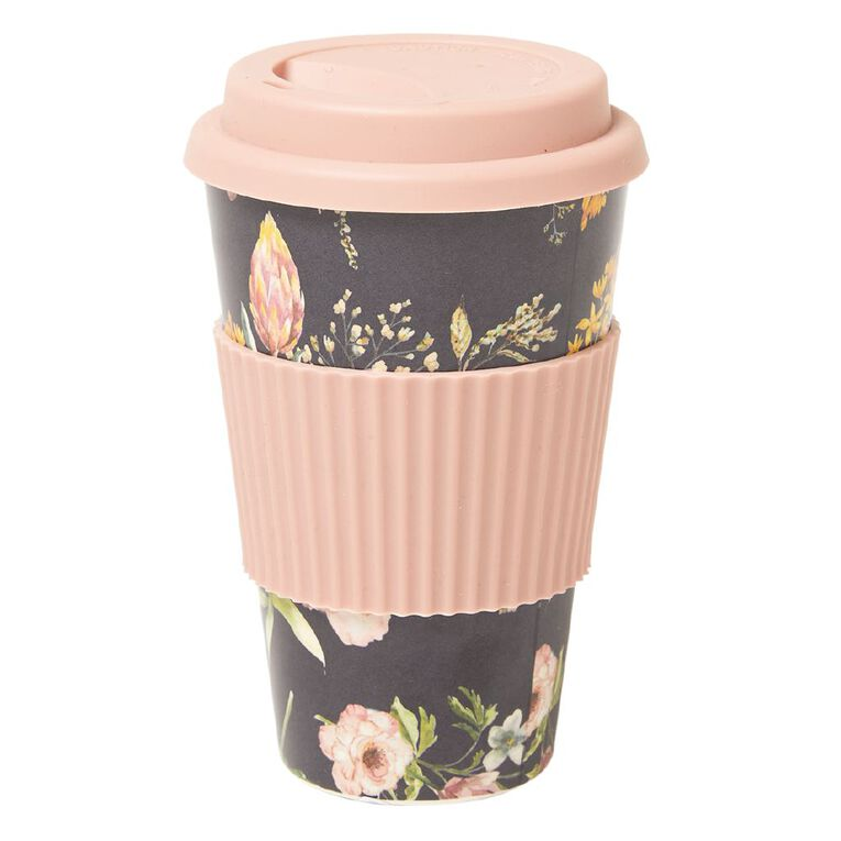 Living & Co Bamboo Travel Cup Floral 500ml, , hi-res