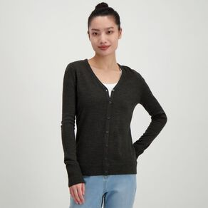 H&H Women's Button Through Cardigan