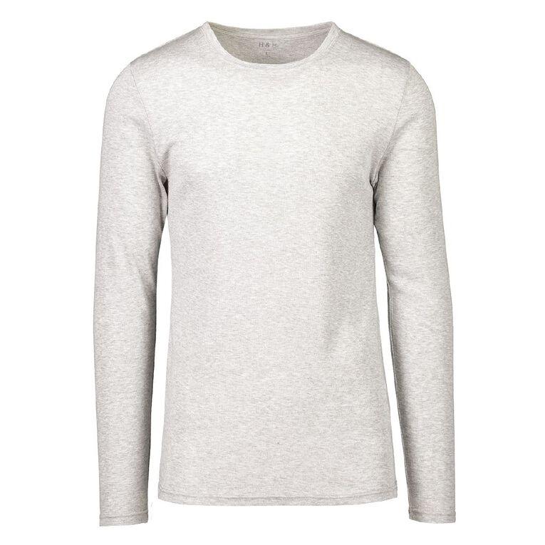 H&H Men's Polyester Viscose Long Sleeve Thermal, Grey, hi-res