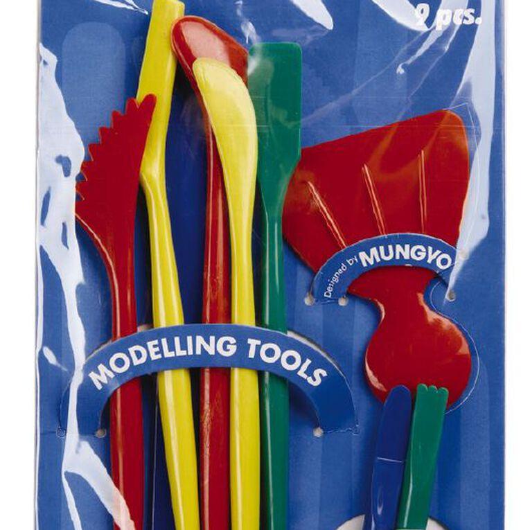 Mungyo Clay Modelling Tools 9 Pieces, , hi-res