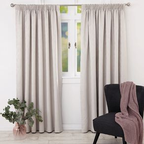 Living & Co Willow Curtains Natural 230-330cm Wide/205cm Drop