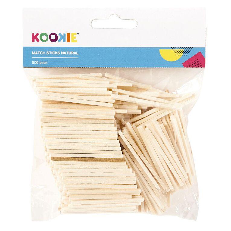 Kookie Matchsticks Natural 500 Pack, , hi-res