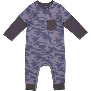 Young Original Baby Double Sleeve Romper