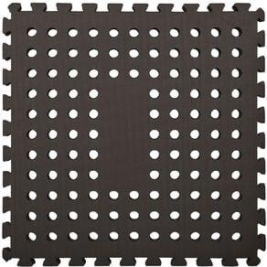 EVA Interlocking Mat 4 Pack 62cm x 62cm x 0.8cm Black