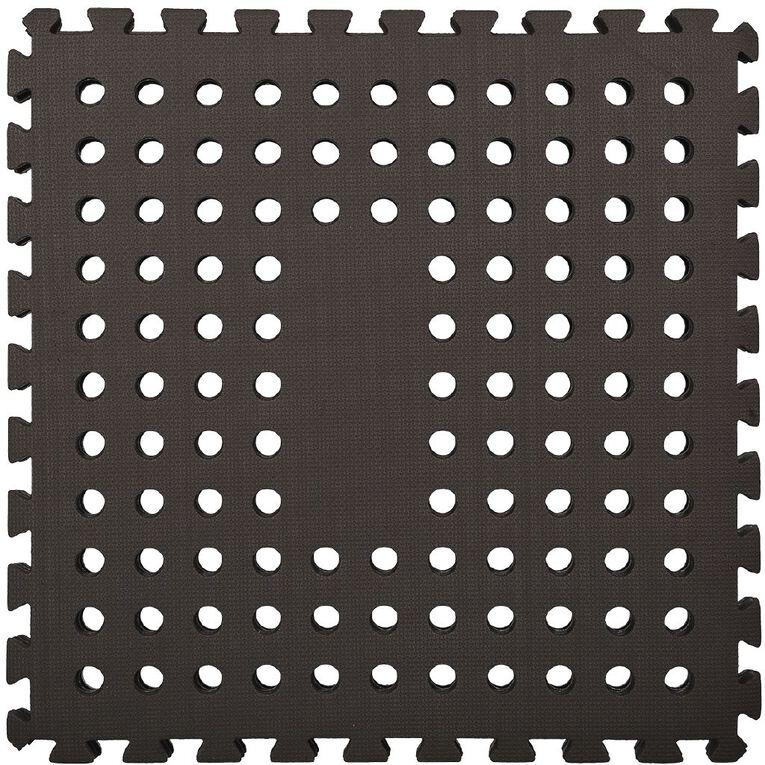 EVA Interlocking Mat 4 Pack 62cm x 62cm x 0.8cm Black, , hi-res