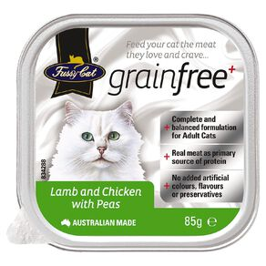 Fussy Cat Lamb and Chicken with Peas 85g