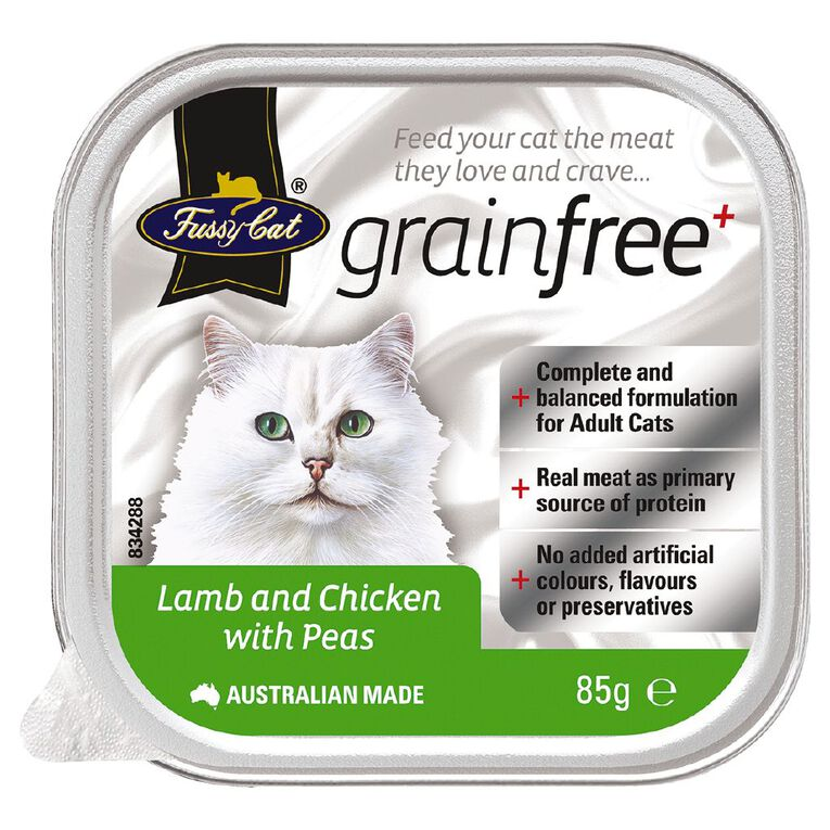 Fussy Cat Lamb and Chicken with Peas 85g, , hi-res