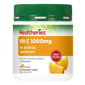 Healtheries Vitamin C 1000mg Chewable tablets 100s