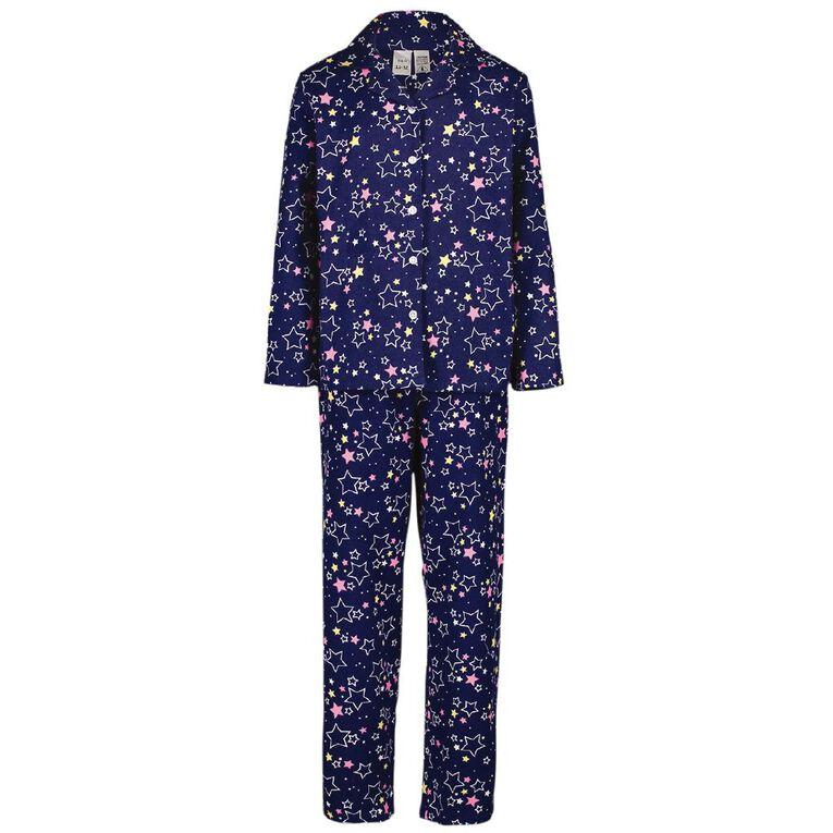 H&H Kids' Flannelette Pyjamas, Navy, hi-res image number null