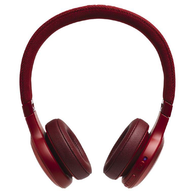 JBL Live 400BT On-Ear Wireless Headphones Red, , hi-res