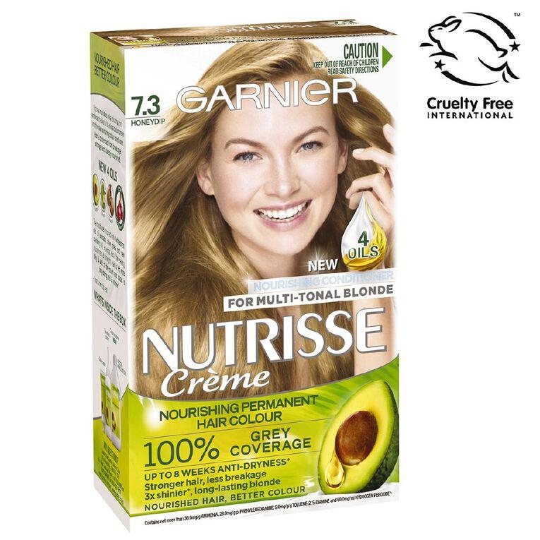 Garnier Nutrisse Permanent Creme Dark Golden Blonde Honeydip 7.3, , hi-res