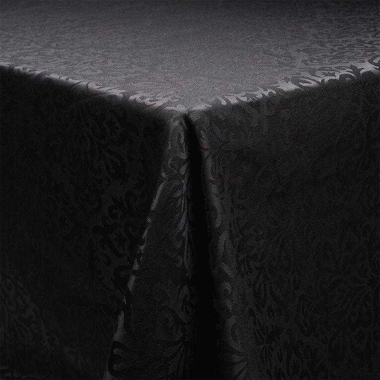 Living & Co Table Cloth Jackie Black 135cm x 230cm, , hi-res