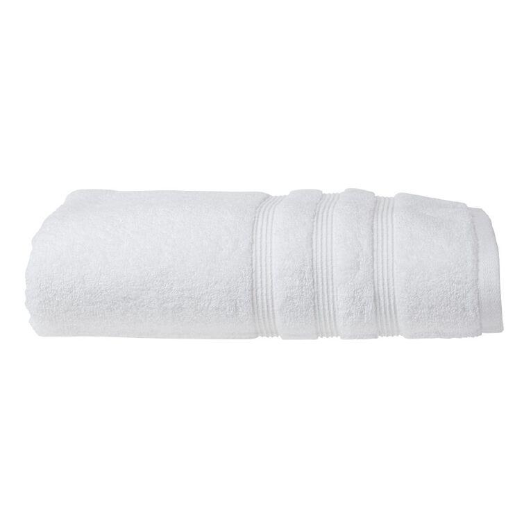 Living & Co Montreal Bath Towel Optic White 137cm x 68cm, White, hi-res
