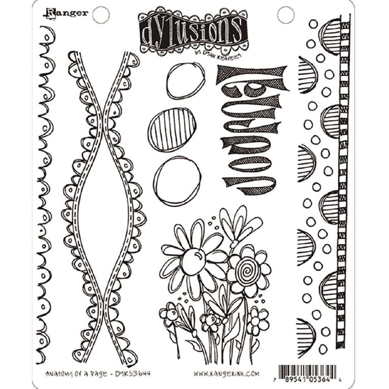 Ranger Dylusions Stamp Anatomy of a Page, , hi-res