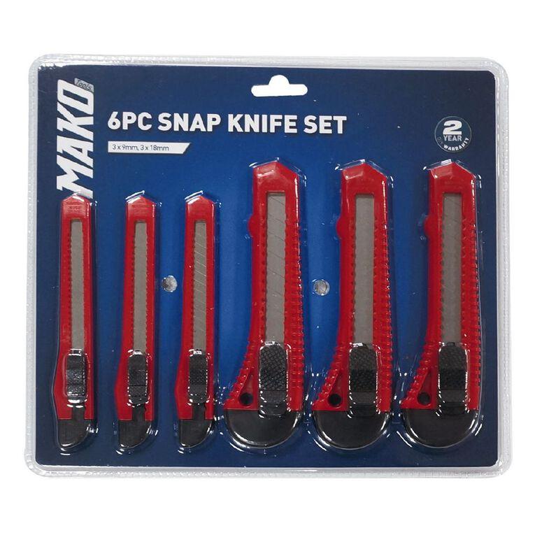 Mako Snap Knife Set 6 Piece, , hi-res