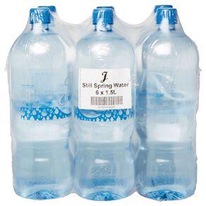 J Still Spring Water 1.5L 6 Pack