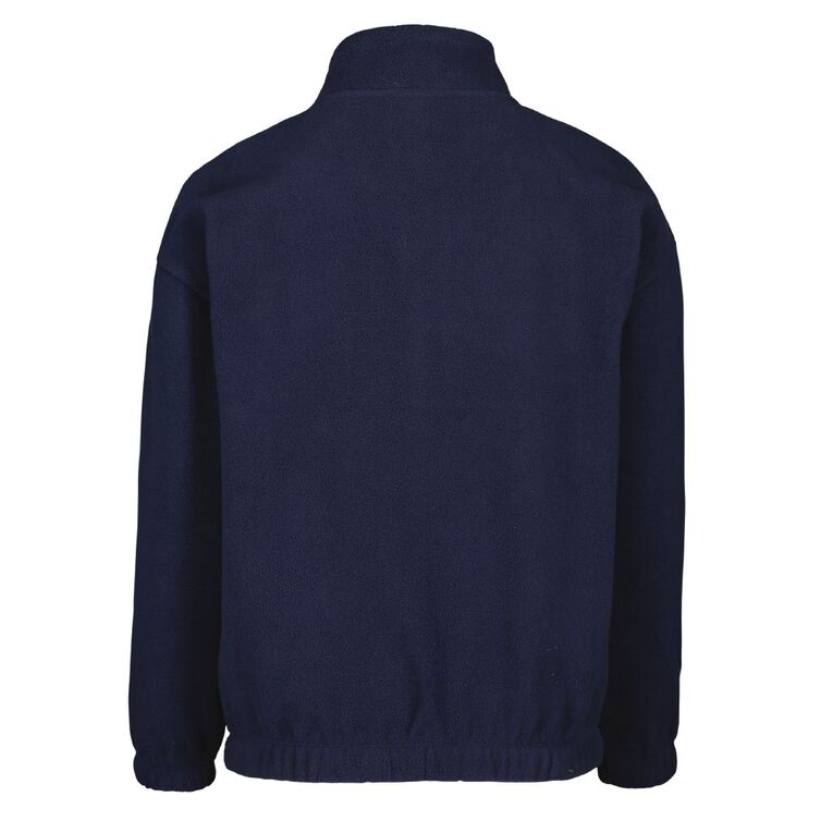Young Original Microfibre Zip Funnel Sweatshirt, Black, hi-res