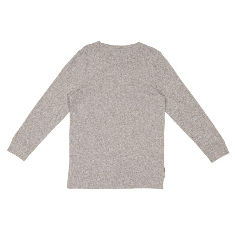 Young Original Long Sleeve Print Cuff Tee, Grey Marle TOOLS, hi-res