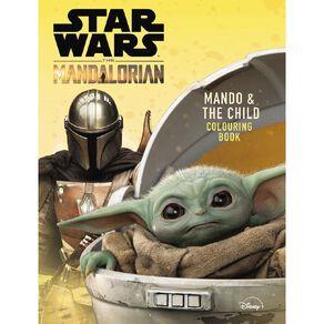 Star Wars The Mandalorian: Mando & The Child Colouring Book