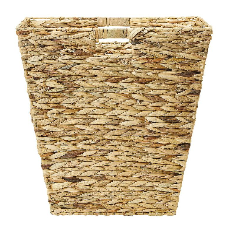 Living & Co Water Hyacinth Square Basket Natural Large, , hi-res