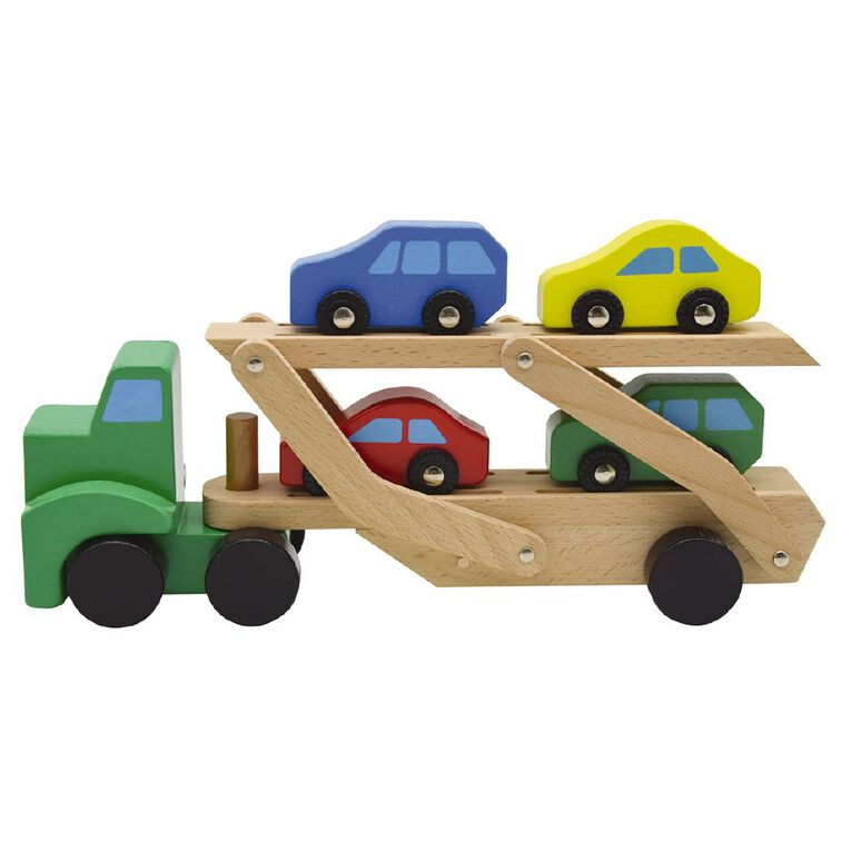 Play Studio Wooden Mega Car Carrier, , hi-res