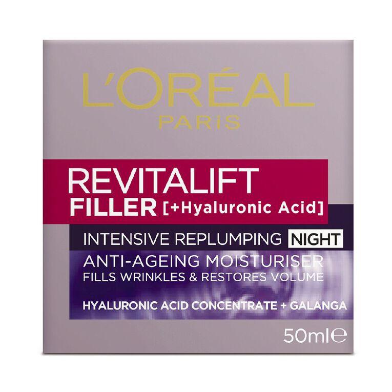 L'Oreal Paris Revitalift Filler Night Cream 50ml, , hi-res