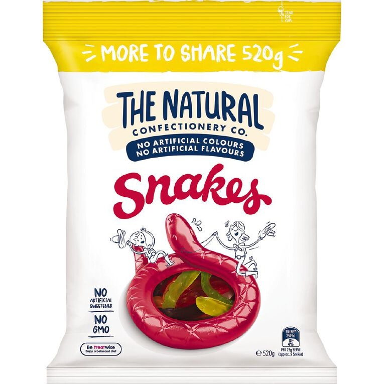 The Natural Confectionery Co. Snakes 520g, , hi-res
