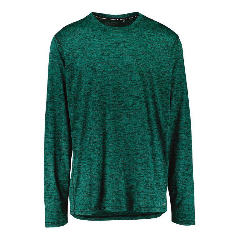 Active Intent Men's Long Sleeve Marle Tee, Green Mid, hi-res