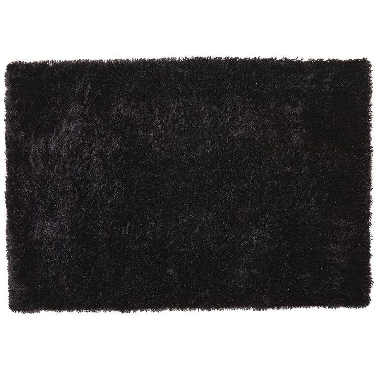 Living & Co Brooklyn Medium Rug Black 120cm x 180cm, Black, hi-res