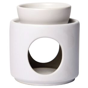 Living & Co Oil Burner Ceramic White 9cm x 9.5cm