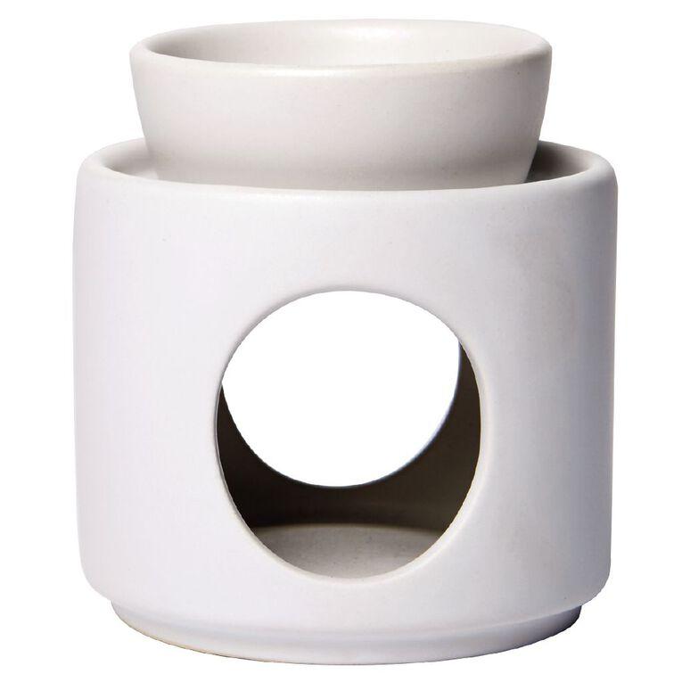 Living & Co Oil Burner Ceramic White 9cm x 9.5cm, , hi-res
