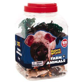 Farm Animals & Accessories 55 Pieces