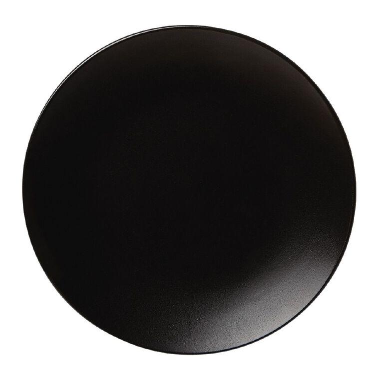 Living & Co Coast Matte Side Plate Black 20cm, , hi-res