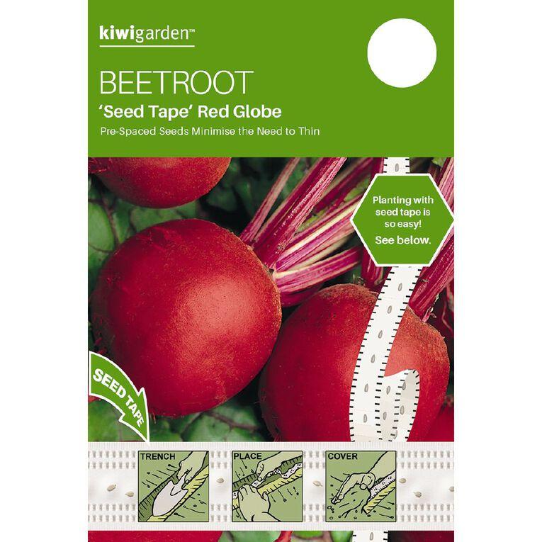 Kiwi Garden Seed Tape Beetroot Red Globe, , hi-res