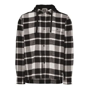 Garage Men's Long Sleeve Checked Hooded Shirt