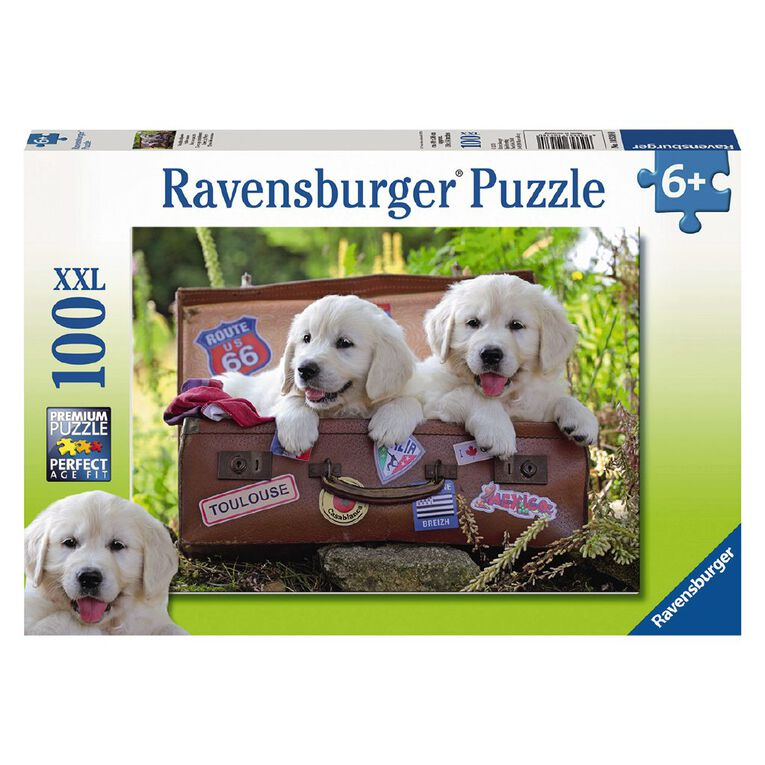 Ravensburger Travelling Puppies Puzzle 100 Piece Puzzle, , hi-res image number null