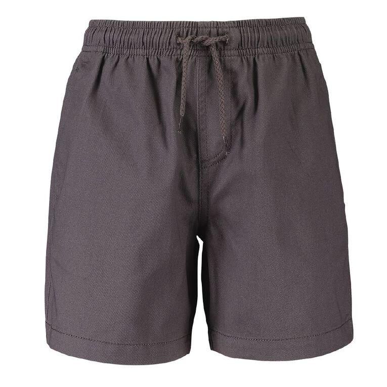 Young Original Boys' Plain Drill Shorts, Grey, hi-res image number null