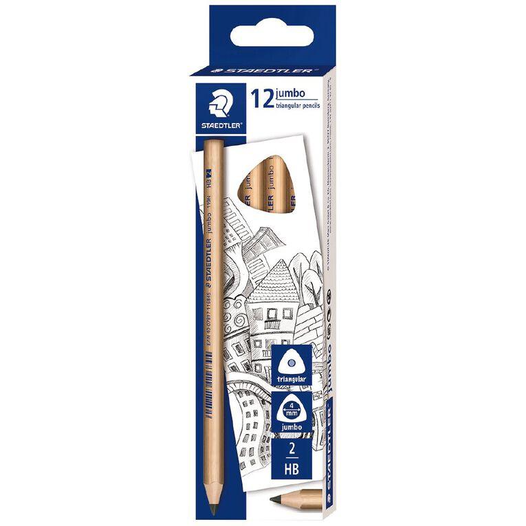 Staedtler Natural Jumbo 119N Triangular Graphite Pencil HB - Box 12, , hi-res