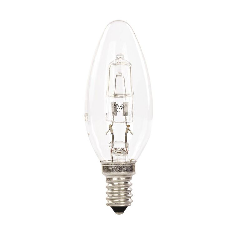 General Electric E14 Halogen Candle Light Bulb 42W, , hi-res