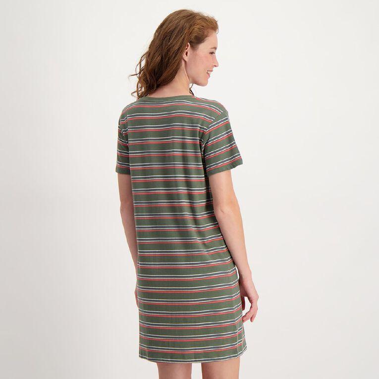 H&H Women's Tee Dress, Khaki, hi-res image number null