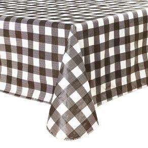 Living & Co Table Cloth Plastic Black/White 178cm x 132cm