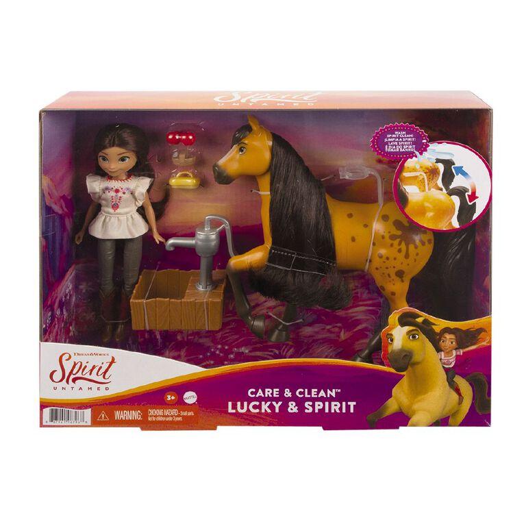 Dreamworks Spirit Lucky & Spirit Colour Changing Water Playset, , hi-res