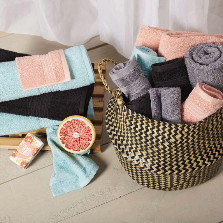 Living & Co Manhattan Bath Towel Aqua 135cm x 65cm, Aqua, hi-res