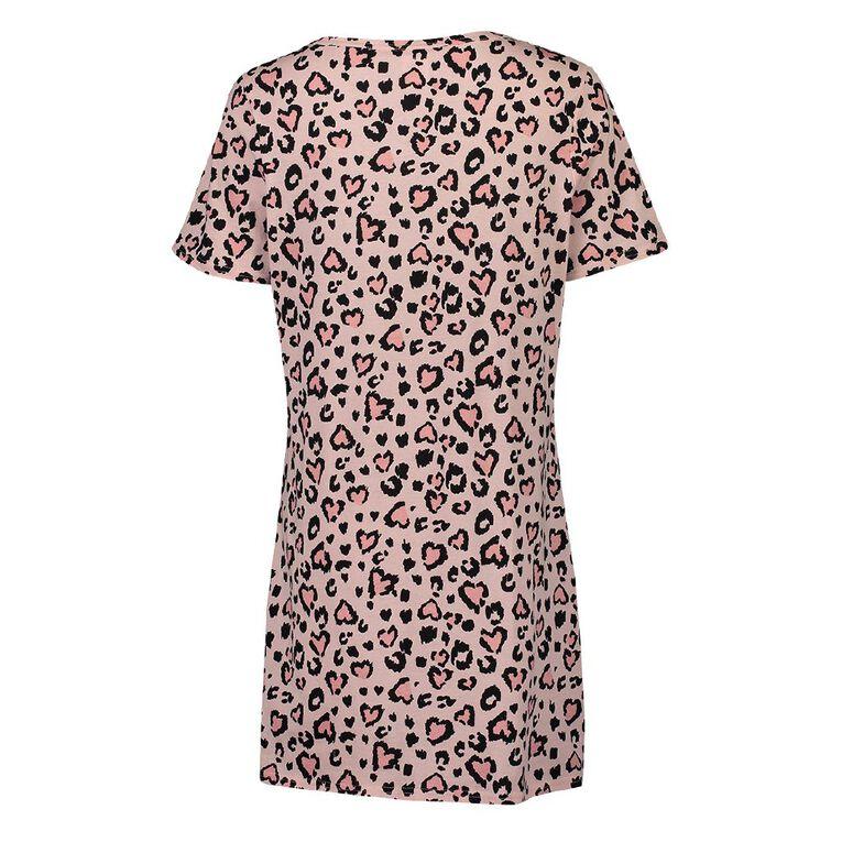 H&H Women's Short Sleeve Nightie, Pink, hi-res