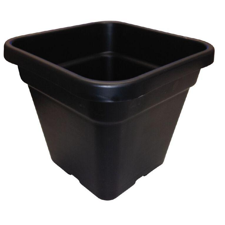 IP Plastics Square Resin Planter Pot 26cm Black 10L, , hi-res