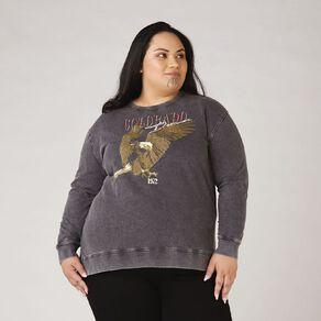 H&H Plus Women's Acid Print Sweatshirt
